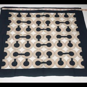 Coach Black and Beige Square Scarf
